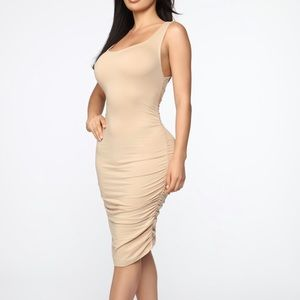 Never Enough Ruched mini dress
